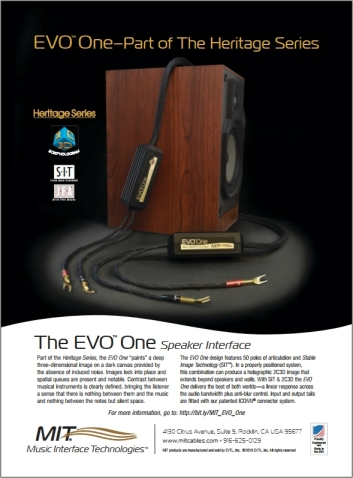 EVO One - Absolute Sound Ad - March 2019