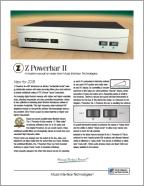 Powerbar II Infosheet